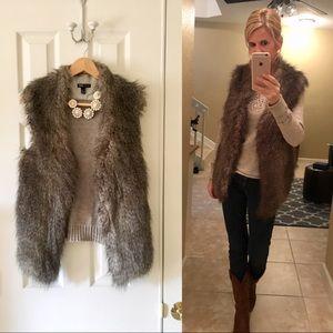 NWOT MNG Faux Fur Vest